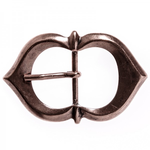 Spitzbogen-Schließe, 3cm, kupferfarben