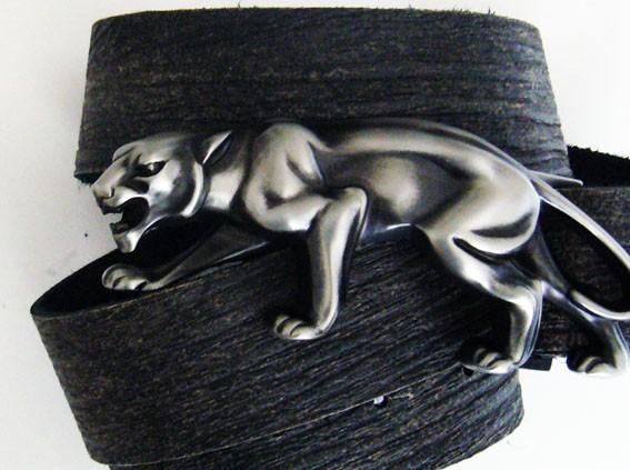 Guenhwyvar, 4cm, Schließe schwarzer Panther