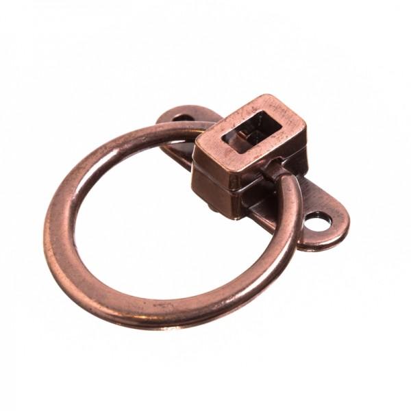 Taschenverschluss RING, kupfern