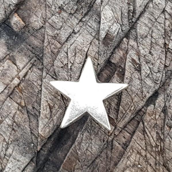 Stern, silberfarbener Beschlag