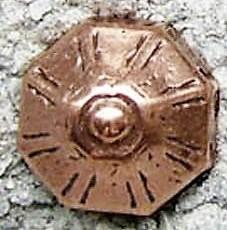 N-234-4 Nordischer Tempel, kupferfarbener Beschlag