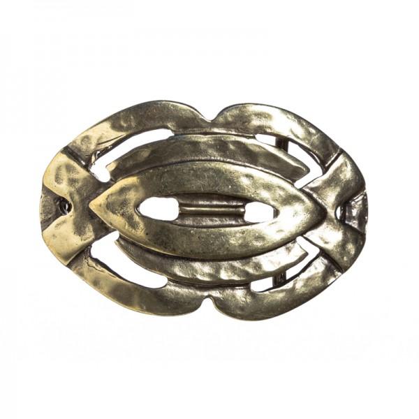 Barclay, 4cm, keltische Flechtband-Schließe, messingfarben
