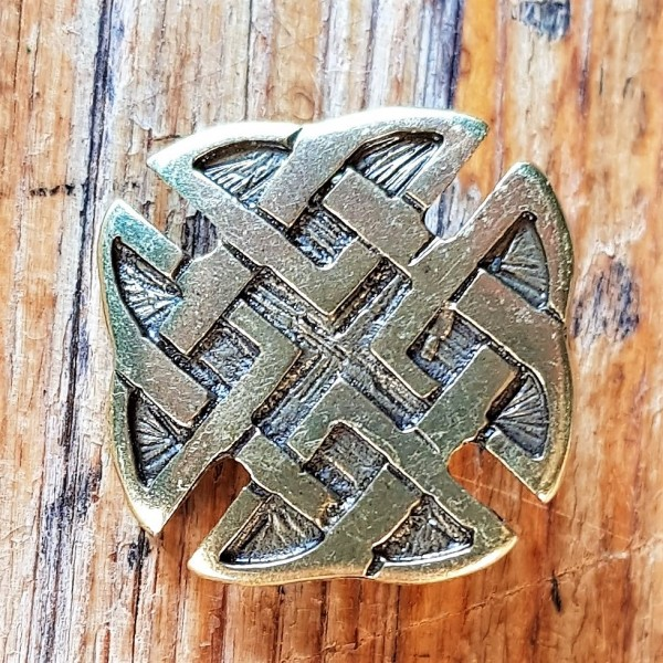 keltisches Kreuz, Beschlag messingfarben