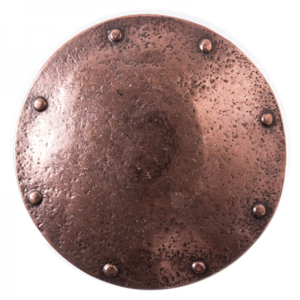 Ragnar, 4cm, kupferne Mittelalter-Schließe, Wikinger-Schild