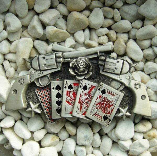 Las Vegas Poker, 4cm, Gürtelschließe
