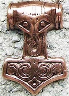 N-229-4 Thor's Hammer, kupferfarbener Beschlag