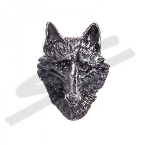große Wolfskopf-Niete, alteisenfarben