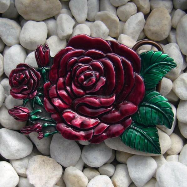 Crimson-Rose, 4cm, Romantik, Gürtelschließe