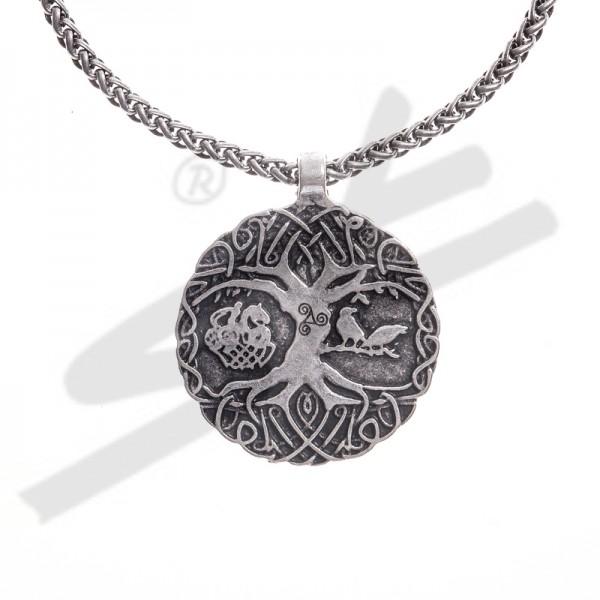 PK 5111-1 Halskette Weltenesche, silberfarben