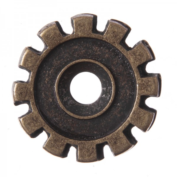 Wheel, altmessingfarbener Beschlag
