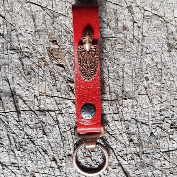 Schlüsselanhänger SLING, Ritter-Schild, kupfer
