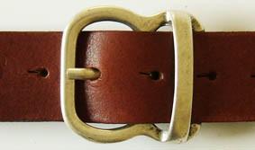 Gürtel-Schließe APOLLO, 4cm, silberfarben