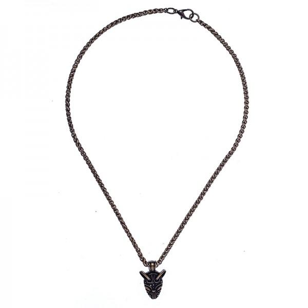 Halskette Irminsul, altmessingfarben