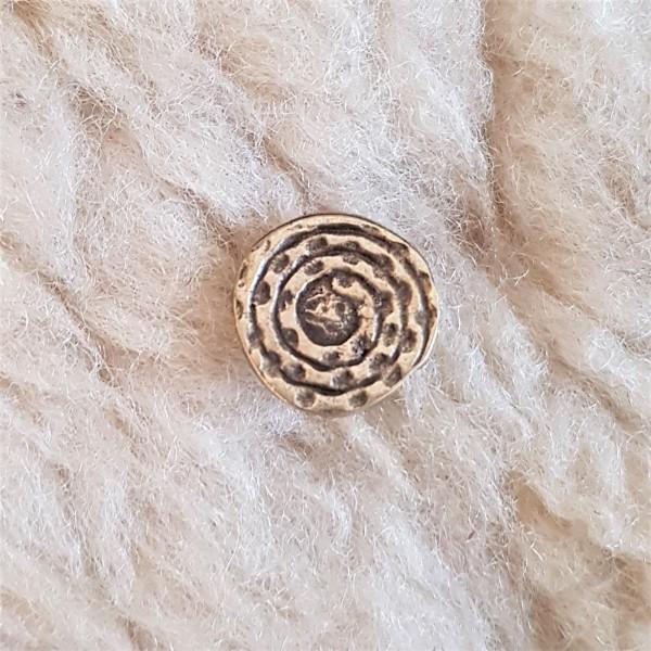 Spiralplatte, klein, messingfarbener Beschlag