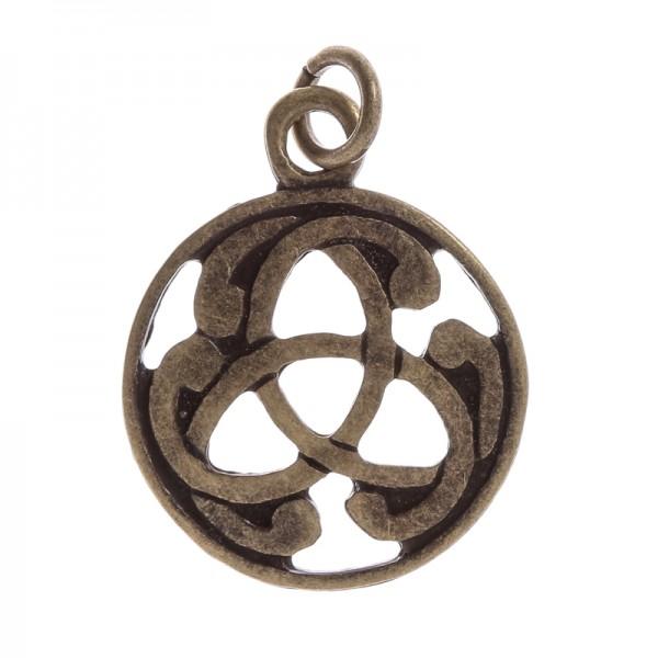 Anhänger keltische Triskele, altmessingfarben