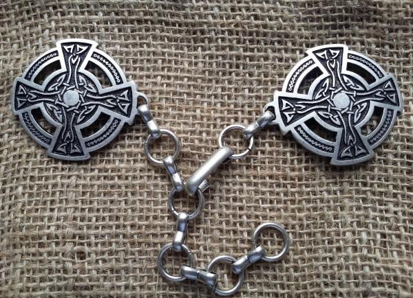 Mantel-Verschluss Celtic Wheel Cross