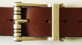 Gürtel-Schließe HEKTOR, 4cm, silberfarben