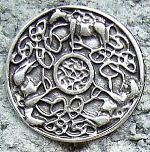 Celtic Horses, silberfarbener Beschlag