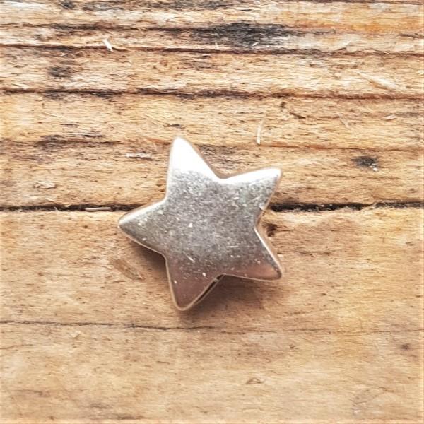 silberne 5-zackige Sternchen-Niete, Pentagramm