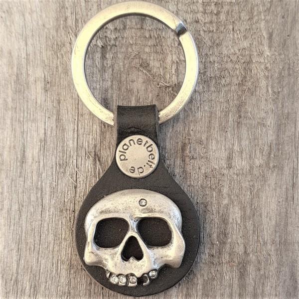 Schlüsselanhänger RONDO STRASS-SKULL
