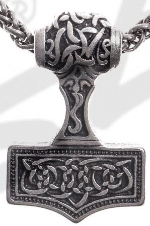 Anhänger Thor-Hammer , silberfarben