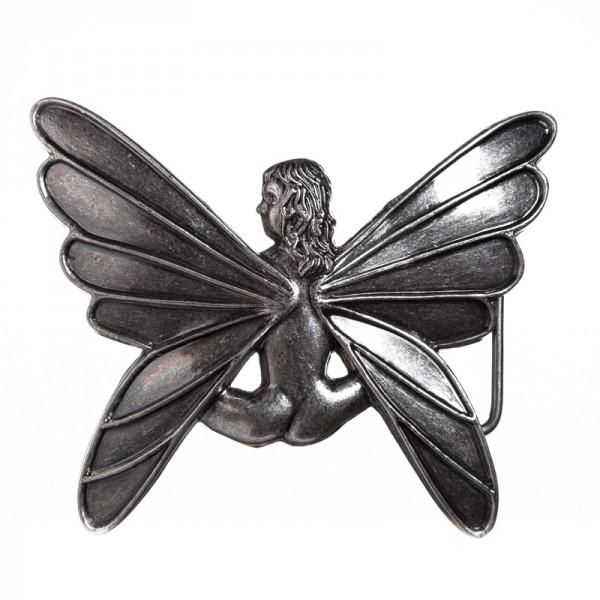Fairy, 4cm, Elfen -Schließe silberfarben