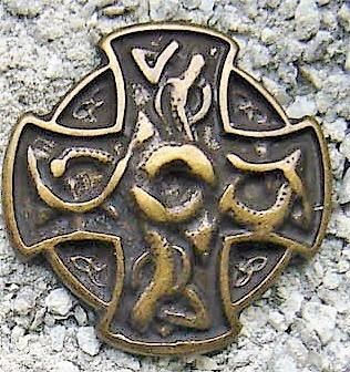 N-219-21 Drachen Kreuz, altmessingfarbener Beschlag
