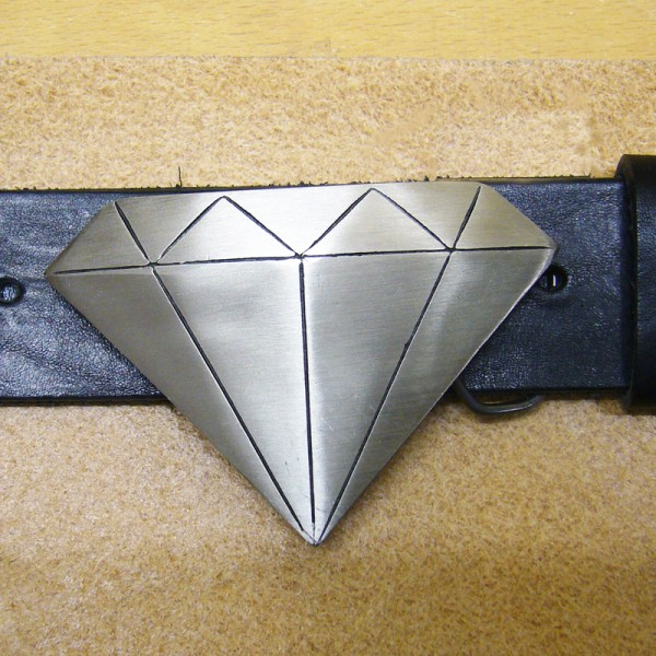 Diamond, 4cm Zinn-Gürtelschließe