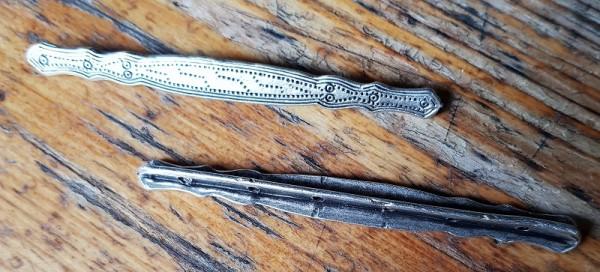 Wikinger Stab-Kettenverteiler-Paar 'BIRKA', silberfarben