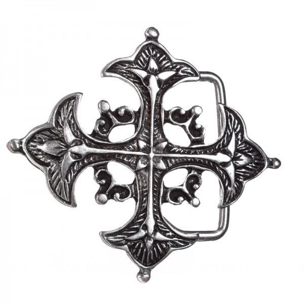 ARTUS, Lilienkreuz, 4cm, Musketier-Schließe, altmessingfarben