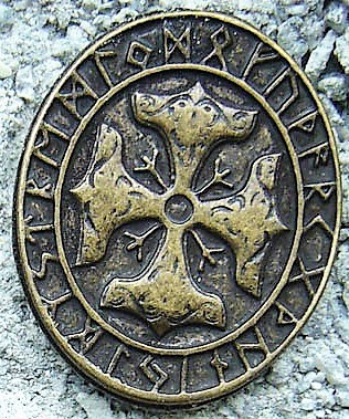 Thors Kreuz, altmessingfarbener Beschlag