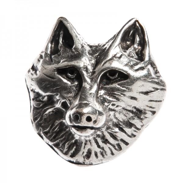 Wolfkopf-Niete, silberfarbener Beschlag