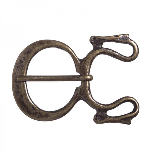 Drachen-Schließe, 3cm, altmessingfarben