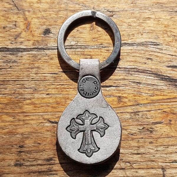 Schlüsselanhänger Mittelalter Lilien-Kreuz