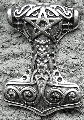 Thors Hammer, silberfarbener Beschlag