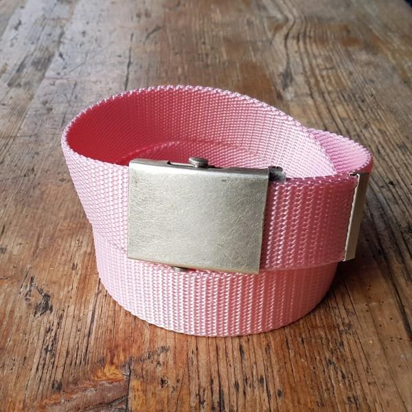 Military Stoffgürtel rosa