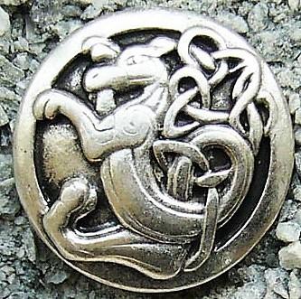 keltischer Löwe, silberfarben
