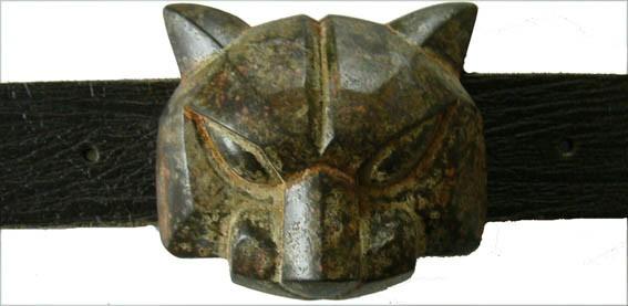 Patina-Cat, 4cm, Vintage-Schließe Pantherkopf