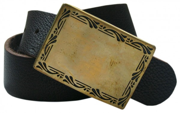 Frame - brass square, 4cm Schließe