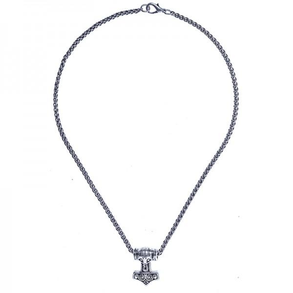 Halskette Malmer des Thor, silberfarben