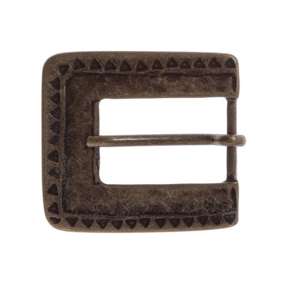 Mittelalter-Schließe, 2cm, altmessingfarben