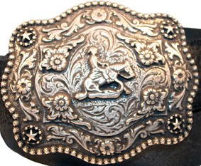 B 9004-1 Western Rodeo Buckle SLIDING STOP