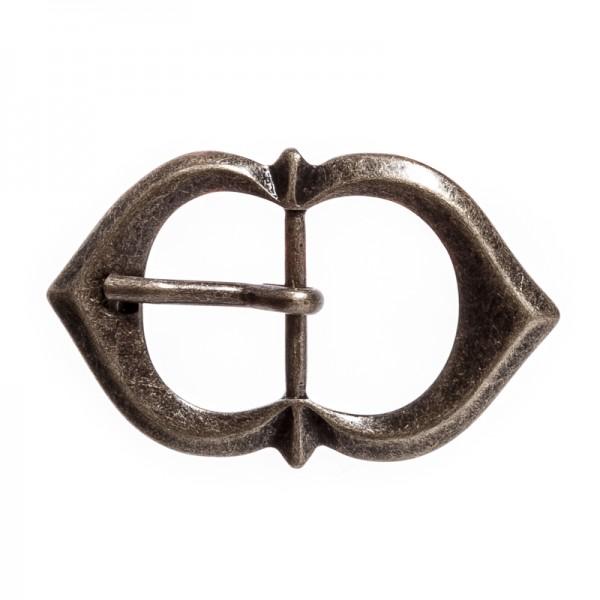 Spitzbogen-Schließe, 2,5cm, altmessingfarben