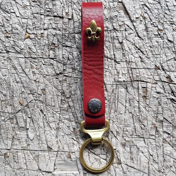 Schlüsselanhänger SLING, französische Lilie, messing