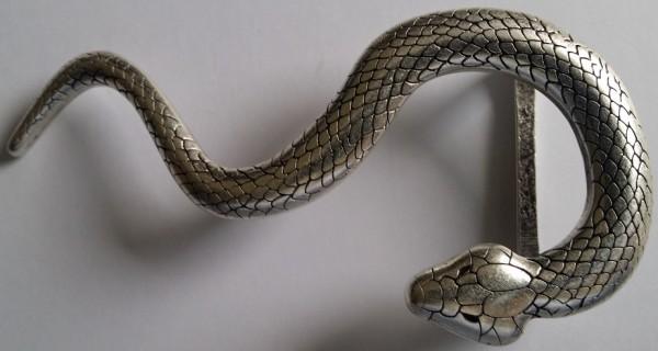 VIPER, silberfarben Gürtel-Schließe