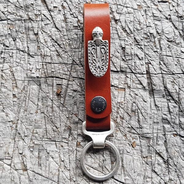 Schlüsselanhänger SLING, Ritter-Schild, silber