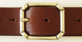 Gürtel-Schließe AJAX, 4cm, silberfarben