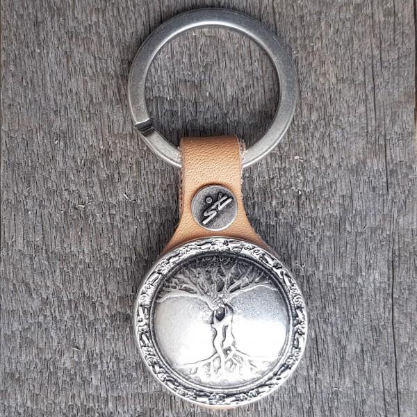 Schlüsselanhänger LEBENSBAUM silberfarben