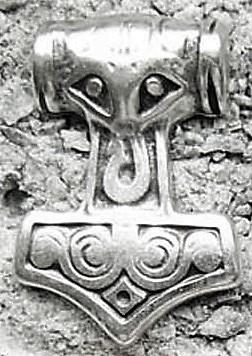 Thor's Hammer, silberfarbener Beschlag