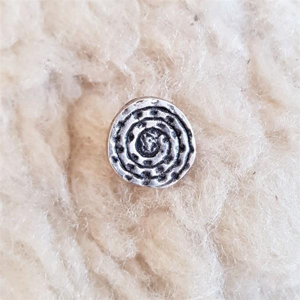 Spiralplatte, mittel, silberfarbener Beschlag